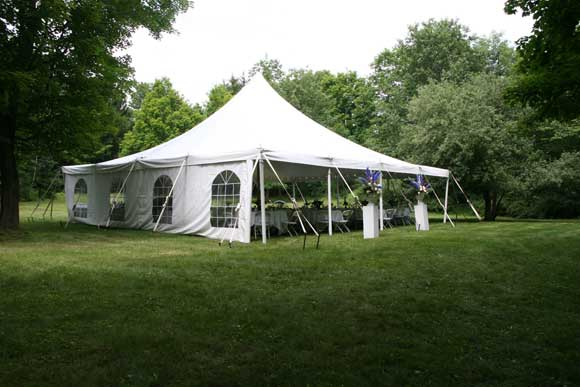 Open fields house your magnificent white dining and dancing tents