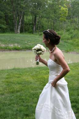 Enjoy your ceremony amid pines and maples or at the edge of our country pond