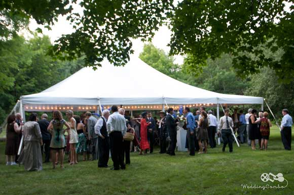 Open field house your magnificent white dining and dancing tents